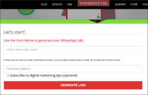 Whatsapp Link Generators on the Internet