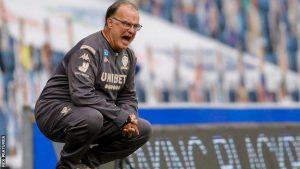 Leeds manager, Marcos Biesla shouts