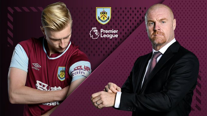 Burnley's manager, Sean Dyche and club captain