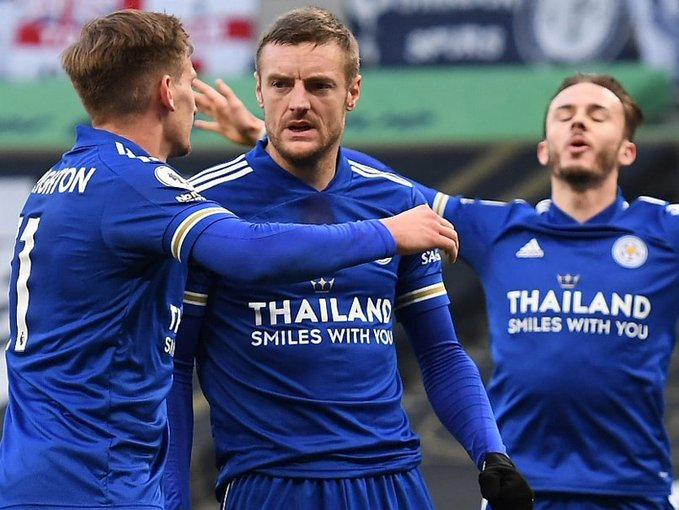 Leicester City celebrates