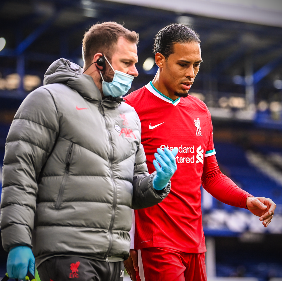 Liverpool's Van Dijk injured