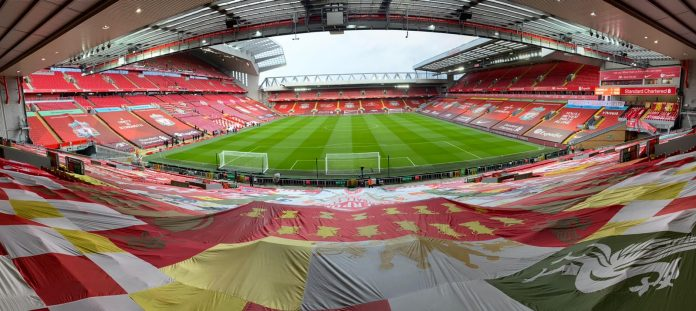 Anfield, the venue for Liverpool vs Everton
