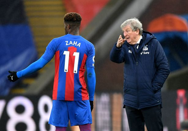 Crystal Palace manager, Roy Hodgson and Zaha