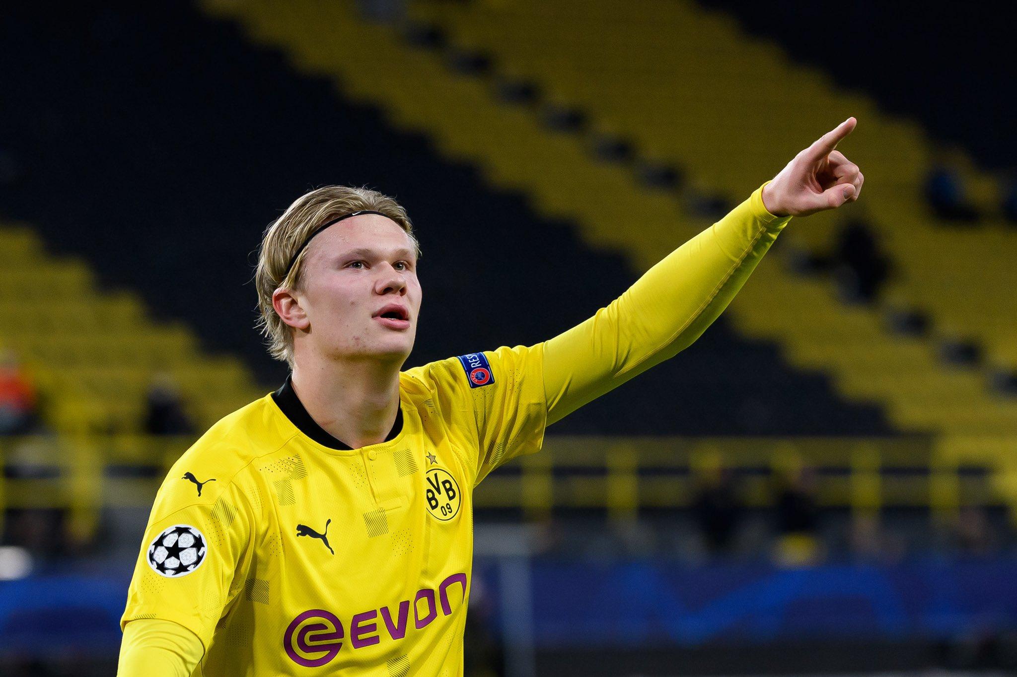 Borussia Dortmund's striker, Erling Haaland