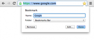 How to Delete Bookmark in chrome