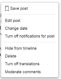 How to Turn Off Comment on Facebook Post